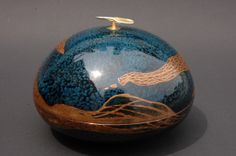From heaven 4-7  Japanese lacquer (urushi) on copper, silver 925, gold powder