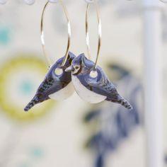 Eichelhäher Ohrringe niedlichen Vogel Ohrringe von PaperPatternSilk