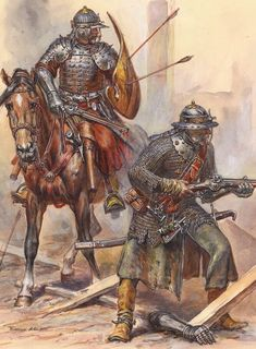 Elite Royal Army Troops Polish hussar and Musketeer at the battle of Vienna