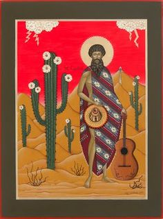 icons - the garden saints - olga volchkova Organic Gardening, Cactus, Saints, Painting, Icons, Art, Art Background, Painting Art, Kunst