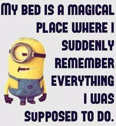 My Bed funny quotes quote funny quote funny quotes humor minions minion quotes