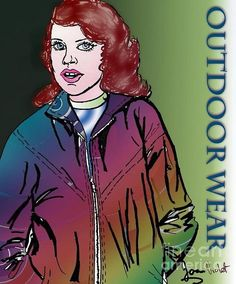 Rainbow Jacket Outdoors Poster By Joan-violet Stretch