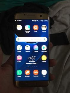 Screen is in perfect condition but the back is cracked Galaxy S7, Galaxy Phone, Samsung Galaxy, Electronic Devices, S7 Edge, Conditioner, Apps, Memes, Tecnologia