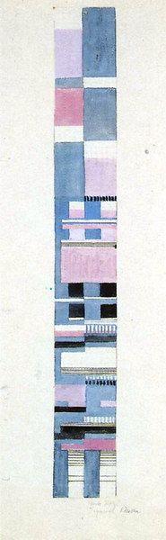 Gunta Stölzl - Bauhaus Master; Design for a Jacquard woven fabric Circa 1928 50.7x6 cm Bauhaus-Archiv Berlin