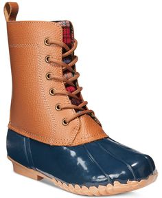 Sporto Dede Lace-Up Waterproof Duck Booties - Sporto - Shoes - Macy's