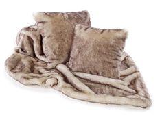 af0bea6f73 luxury Katrina Hampton Brown Snow Fox Faux Fur Cushion in two sizes to buy  online UK