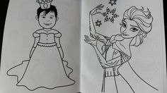 Frozen Party. My little Princess Jazmyn turned into a Frozen character in the coloring book.