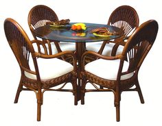 Since 2002 American Rattan has been the leader in offering a huge selection of indoor tropical Rattan and Wicker dining sets. Wicker Dining Set, Round Dining Set, Wicker Chairs, Modern Dining Chairs, Table And Chairs, Dining Sets, Tables, Resin Wicker Furniture, Dining Furniture