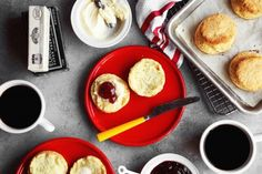 Buttery Layered Buttermilk Biscuits | http://joythebaker.com/2015/08/buttery-layered-buttermilk-biscuits/