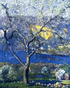 Buds and Blossoms, 1916, Daniel Garber (American, 1880-1958)