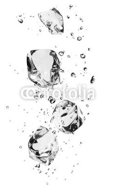 """Wall Mural """"refrigerate, solid, refreshment - ice cubes with bubbles, isolated on white"""" ✓ Easy Installation ✓ 365 Days Money Back Guarantee ✓ Browse other patterns from this collection!"""