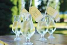 Top signature cocktails with festive escort cards. Print guest names on customizable Gartner Studios® tags and attach to colorful straws with twine. Guests will love sipping your personalized signature cocktail! Love this idea! Wedding Supplies, Wedding Favors, Wedding Decorations, Party Favors, Wedding Pins, Diy Your Wedding, Dream Wedding, Wedding Summer, Drink Tags