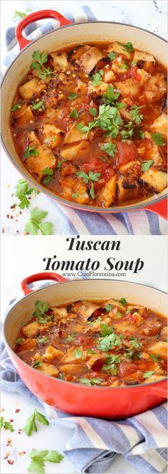 Tuscan Tomato Soup Recipe | CiaoFlorentina.com @CiaoFlorentina