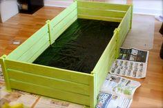 Use slated wood shelves to make an enclosure for your tortoise! #DIY - PetDIYs.com