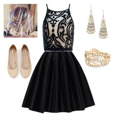 """night out"" by jen144953-1 ❤ liked on Polyvore featuring Chicwish, Sans Souci, Lauren Conrad, Express and River Island"