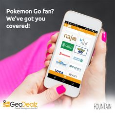 Pokemon Go fan? We've got you covered!  Time to pause and mark a new Pokemon pit-stop at the Fountain. Download GeoDealz to direct you to incredible offers and deals on the cards you carry.   iOS: apple.co/23hzIMQ Android: bit.ly/1YiBXbV