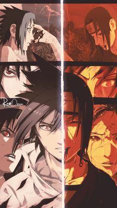 Uchiha Sasuke e Uchiha Itachi Naruto Shippuden Sasuke, Naruto Kakashi, Anime Naruto, Naruto Fan Art, Wallpaper Naruto Shippuden, Manga Anime, Madara Wallpaper, Tous Les Anime, Super Anime