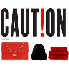 """""""Caution By Coolorfool"""" by coolorfool on Polyvore"""