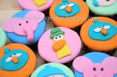 Mysunshine Cupcakes: Pocoyo & friends 2D cupcakes