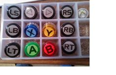 Where can I buy custom buttons? Arcade Buttons, Arcade Machine, Custom Buttons, White Vinyl, Vinyl Lettering, I Can, Canning, Diy, Bricolage