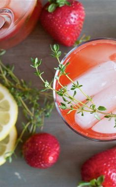 Summer Drink Makeovers With Flavor-Infused Simple Syrups [Strawberry-Thyme Lemonade] - offbeat + inspired