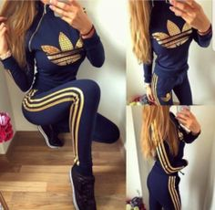 Right side zip in black and gold - STUDIO Cute Swag Outfits, Sporty Outfits, Hot Outfits, Stylish Outfits, Nike Uptempo, New School Hip Hop, Mode Adidas, Adidas Tracksuit, Joggers