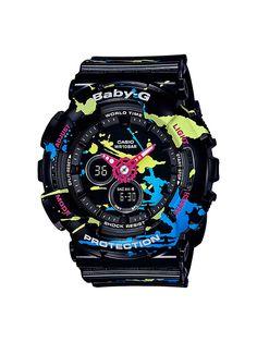 Official Casio Baby G Shock Watch Splatoon edition (Black) Casio Baby G Shock, Baby G Shock Watches, Casio G Shock Watches, Sport Watches, Cool Watches, G Watch, Casio Watch, Banda Aceh, Casio Edifice