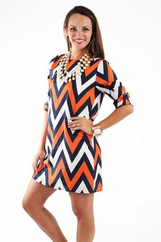 war eagle orange and blue auburn game day dresses  Gameday ...