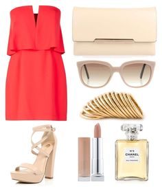 """color"" by danielaprzhrtd on Polyvore featuring BCBGMAXAZRIA, River Island, Christian Louboutin, Chanel, Christian Dior and Shaun Leane"
