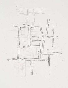 """Jürgen Partenheimer  Etchings for """"A la rêveuse matière"""" suite, 2002"""