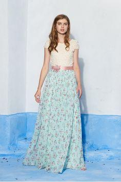 Vestido Isabel Turquesa