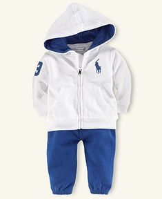 Ralph Lauren Baby Set, Baby Boys Resort Hooded Jacket and Pant Set - Kids Baby Boy (0-24 months) - Macy's