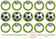 Mamá Decoradora: Futbol Soccer Ball, Holidays And Events, Free Printables, Birthday Parties, Stickers, Party, Muffins, Football, Google