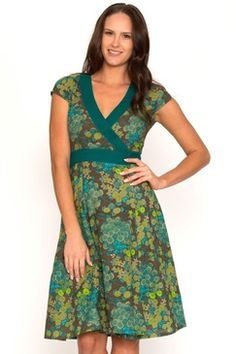 Wrap Dress Floral Turquoise