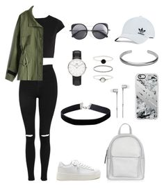 """polyvore"" by jesy-smith on Polyvore featuring mode, Alice + Olivia, Topshop, Chicwish, New Look, adidas Originals, Wood Wood, Daniel Wellington, Miss Selfridge et Accessorize"