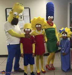 The Simpsons Family Homemade Costume Horror Halloween Costumes, Native American Halloween Costume, Couple Halloween Costumes For Adults, Halloween Costume Contest, Family Costumes, Halloween Fun, Group Costumes, Costume Ideas, Couple Costumes