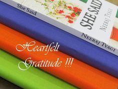 "Heartfelt Gratitude to all who have bought ""She Said"". Keep Inspiring"