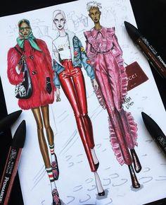 Fashion Ilustration Design Ideas For 2020 Fashion Design Sketchbook, Fashion Illustration Sketches, Illustration Mode, Fashion Design Drawings, Fashion Sketches, Fashion Design Portfolios, Fashion Design Illustrations, Fashion Illustration Tutorial, Art Sketches