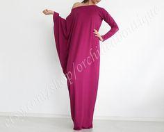 Off-Schulter-asymmetrische Maxi Tunika Kleid Langarm Frauen Mode plus Größe Mutterschaft auf Etsy, 48,46 €