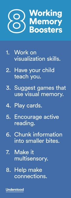 Does your child have a hard time keeping one bit of information in mind while he's doing something else? He might have working memory issues.