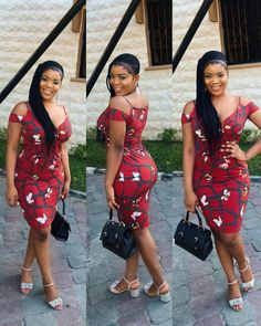 101 Latest Short Gown Ankara Styles For African Ladies - AfroCosmopolitan Ankara Short Gown Styles, Short African Dresses, Trendy Ankara Styles, Short Gowns, African Print Dresses, African Prints, African Patterns, Dress Styles, African American Fashion