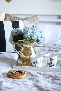 Café da manhã na cama.