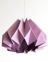 Pumpkin / Origami Paper Lamp Shade -Plum