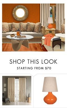 """""""RATTAN LIVINGROOM"""" by arjanadesign ❤ liked on Polyvore featuring interior, interiors, interior design, home, home decor, interior decorating, Madison Park, Robert Abbey, Home Decorators Collection and livingroom"""