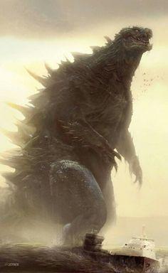 Epic Godzilla fan art