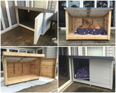 This is a new kennel for I made for my dog because she grew a bit larger than we were expecting. It was easier to make a new one than modify her original kennel.