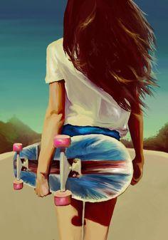 Skate Girl Wallpaper Bedwalls Co