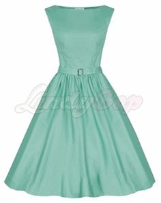 FASTSHIP Mint Green Pin Up Circle Dress By Lindy Bop