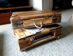 Coffee table palletwood DIY