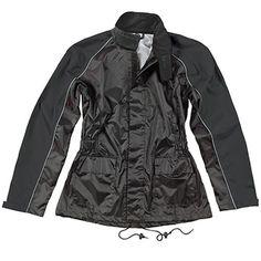Joe Rocket Womens RS-2 Black Two-Piece Rain Suit - Motorcycles508